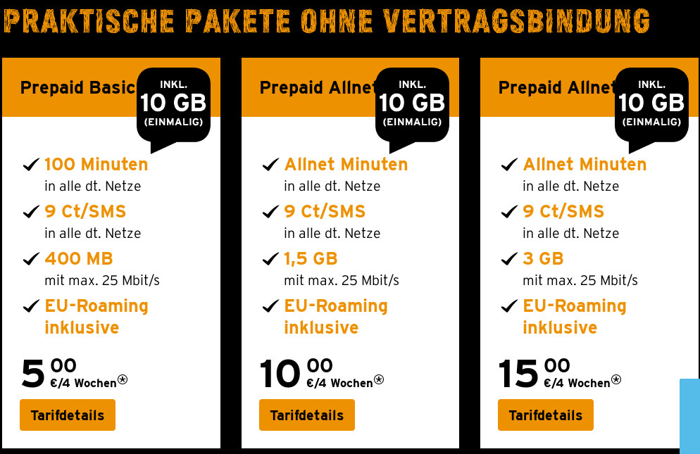 prepaid tarife congstar gratis 10 gb datenvolumen all. Black Bedroom Furniture Sets. Home Design Ideas