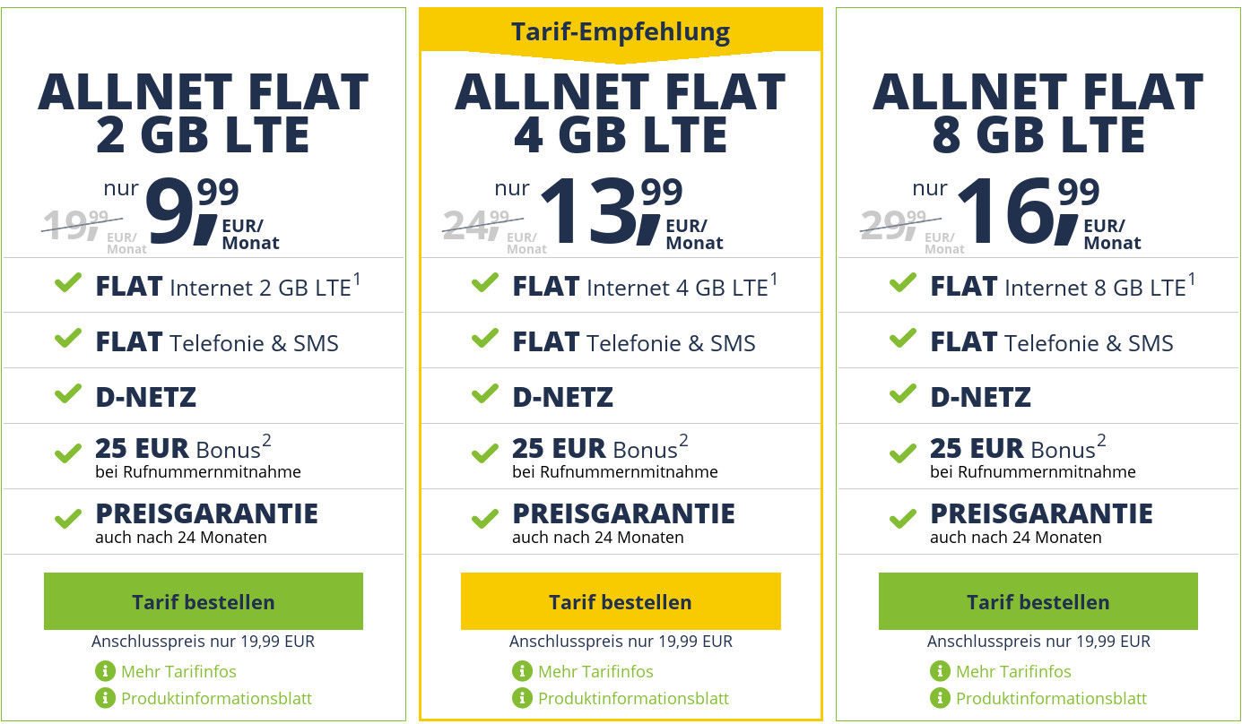 Freenet Mobile Tarife