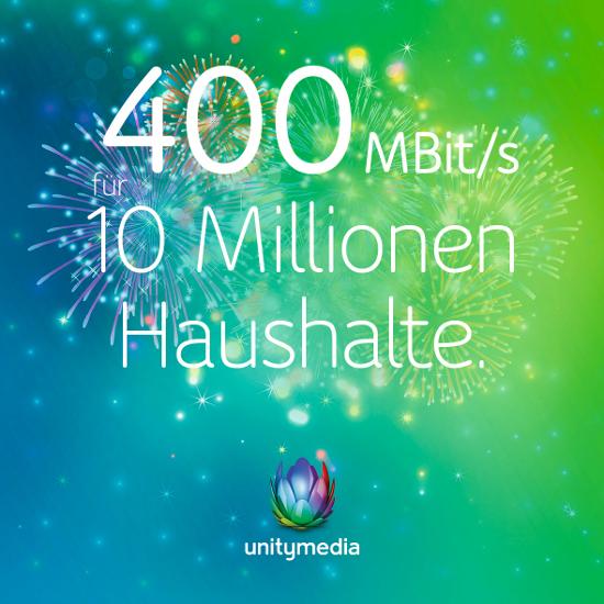 Unitymedia 400 Mbits Für 10 Millionen Unitymedia Kabelhaushalte