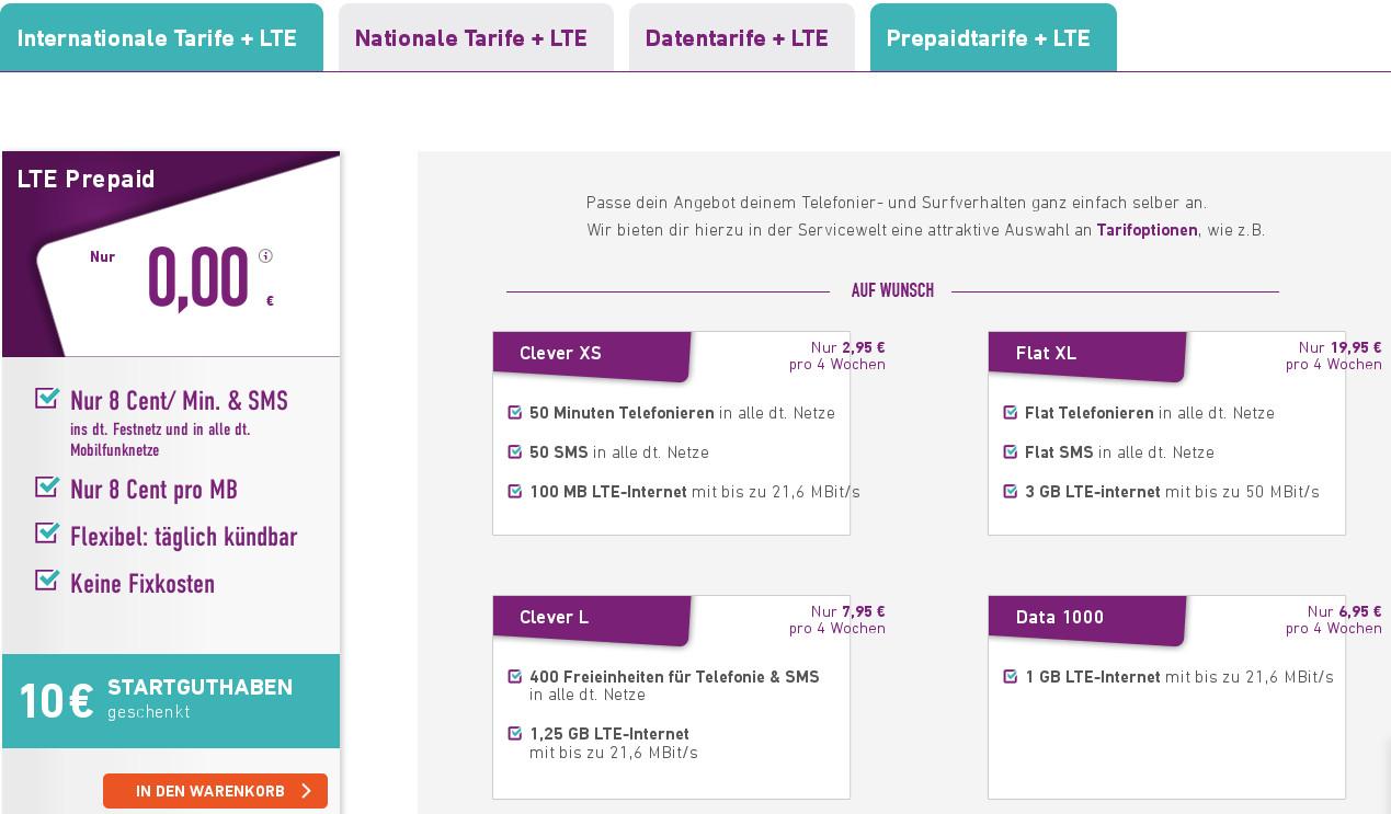 Yourfone Prepaid Tarife Nun Im Lte Netz Neue 3 Gb Lte All In Flat